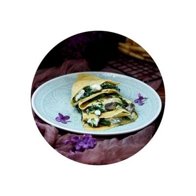 Palačinky se špenátem a sýrem roquefort