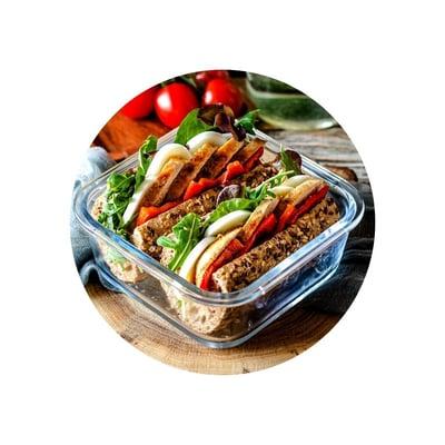 Kuřecí sendvič s pečenou paprikou