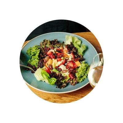 Ovocný salát se sýrem Gorgonzola