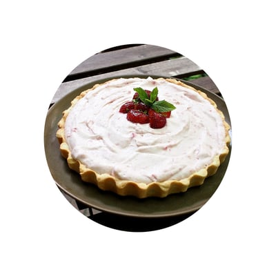 Jahodovo-mangový koláč