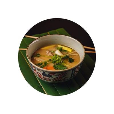 Miso polévka s krkovičkou a zeleninou