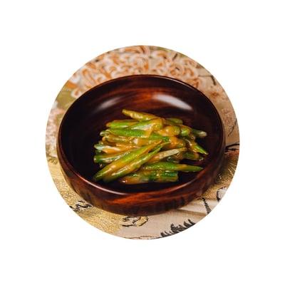 Zelené fazolky s miso
