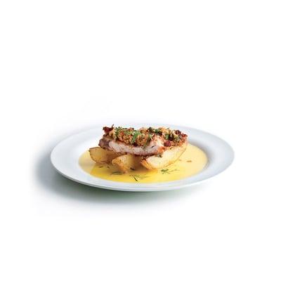 Kuře v aromatické strouhance s citronovou omáčkou