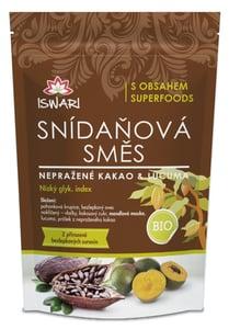 Iswari BIO Snídaňová směs nepražené kakao-lucuma
