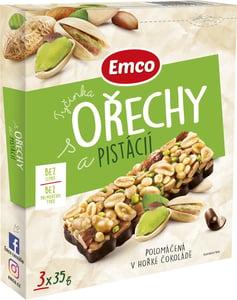 Emco Tyčinky ořechy a pistácie 3x35g