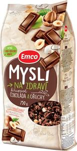 Emco Mysli na Zdraví Křupavá Čokoláda a ořechy