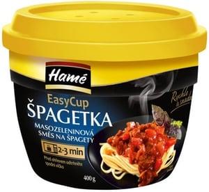 Hamé Špagetka směs na špagety hotové jídlo Easycup