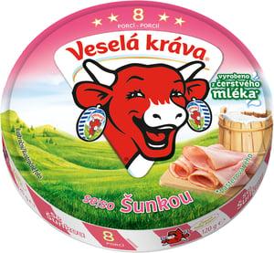 Veselá Kráva se šunkou z čerstvého mléka