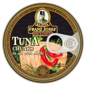 Franz Josef Kaiser Tuňák kousky v rostlinném oleji s chilli