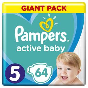 Pampers Active Baby Velikost 5, 64 Plenek, 11–16 kg