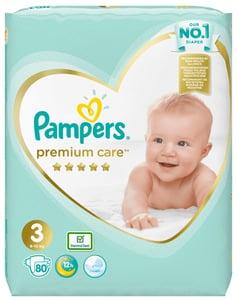 Pampers Premium Care dětské plenky Midi 6-10 kg (velikost 3) 80 ks