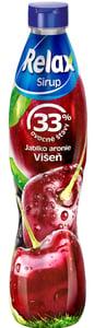 Relax ovocný sirup 33% višeň jablko aronie