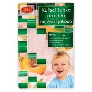 LE&CO Kuřecí šunka pro děti nejvyšší jakosti plátková