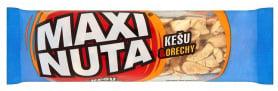 Maxi Nuta Tyčinka s kešu ořechy, polomáčená v kakaové polevě
