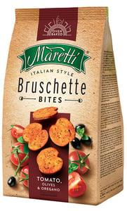 Maretti Bruschetty s příchutí rajčat, oliv a oregana