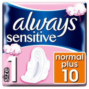 Always Ultra Sensitive Normal Vložky SKřidélky 10ks