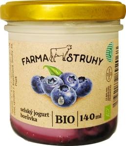 Farma Struhy BIO Selský jogurt borůvka