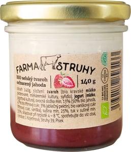 Farma Struhy BIO Selský tvaroh ochucený jahoda