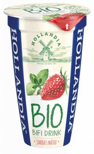 Hollandia BIO BiFi Jogurtový drink jahoda s mátou