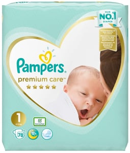 Pampers Premium Care Newborn 2kg-5kg (velikost 1) 78 ks