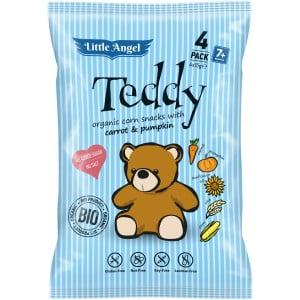 Little Angel Teddy BIO Křupky mrkev a dýně (4x15g)