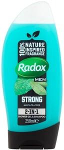 Radox Men Feel Strong 2v1 pánský sprchový gel a šampon