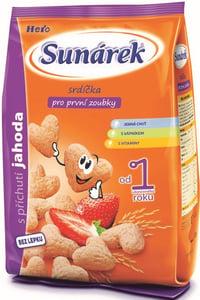 Sunárek dětský snack jahodová srdíčka