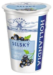 Hollandia Selský jogurt černý rybíz