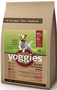 Yoggies kuřecí a hovězí maso - granule s laktobacily