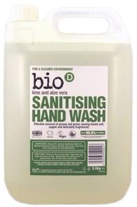 Bio-D BIO Tekuté mýdlo - aloe vera a limetka s desinfekčním účinkem VELKÁ NÁPLŇ