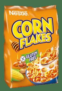 Nestlé CORN FLAKES Med a Arašídy snídaňové cereálie bezlepkové