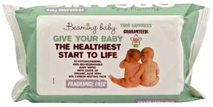 Beaming baby BIO Organické vlhčené ubrousky bez vůně 72ks