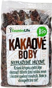 Country Life BIO Kakaové boby nepražené drcené