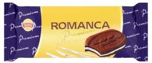 Sedita Romanca Premium Kakaové sušenky s čokoládou a s krémovou náplní s vanilkovou příchutí