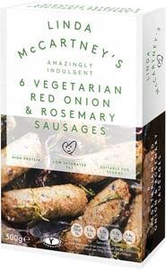 Linda McCartney Vegetariánské klobásky s cibulí a rozmarýnem mražené (6ks)