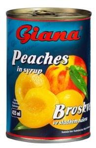 Giana Broskve ve sladkém nálevu