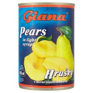 Giana Hrušky půlené v mírně sladkém nálevu
