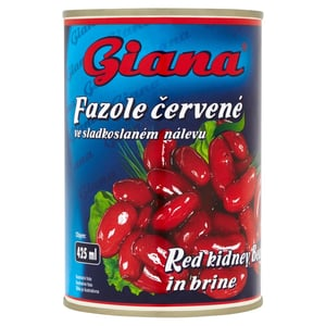 Giana Fazole červené ve sladkoslaném nálevu