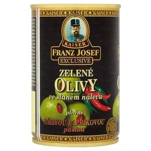Franz Josef Kaiser Olivy zelené plněné pálivou paprikovou pastou