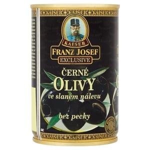 Franz Josef Kaiser Olivy černé bez pecky ve slaném nálevu