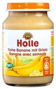Holle BIO Dětská přesnídávka jemné banány s krupicí