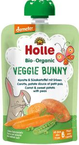 Holle BIO Pyré Veggie Bunny mrkev-batáty-hrášek