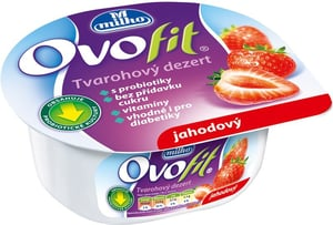 Milko Ovofit dezert jahodový