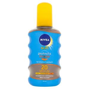 Nivea Sun Protect & Bronze Olej na opalování ve spreji podporující zhnědnutí OF 20