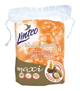 Linteo Premium Vatové polštářky maxi ovály s arganovým olejem 40ks