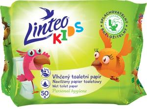 Linteo Kids Vlhčený toaletní papír, 1-vrstvý