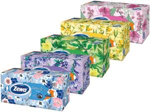 Zewa Deluxe Design papírové kapesníky 3vrstvé box 90ks