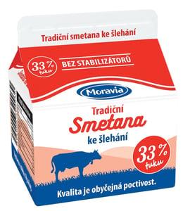 Moravia Smetana ke šlehání 33 %