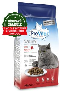 PreVital Naturel granule pro kočky hovězí