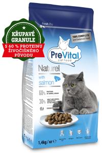 PreVital Naturel granule pro kočky losos